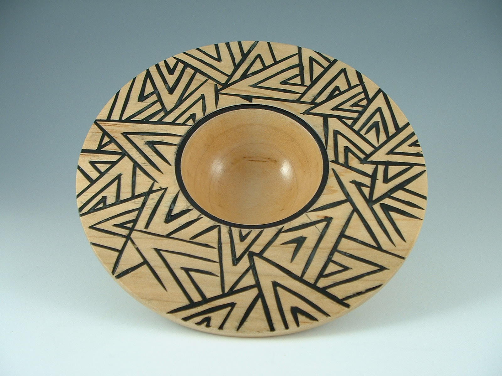 maple bowl with encaustice wax