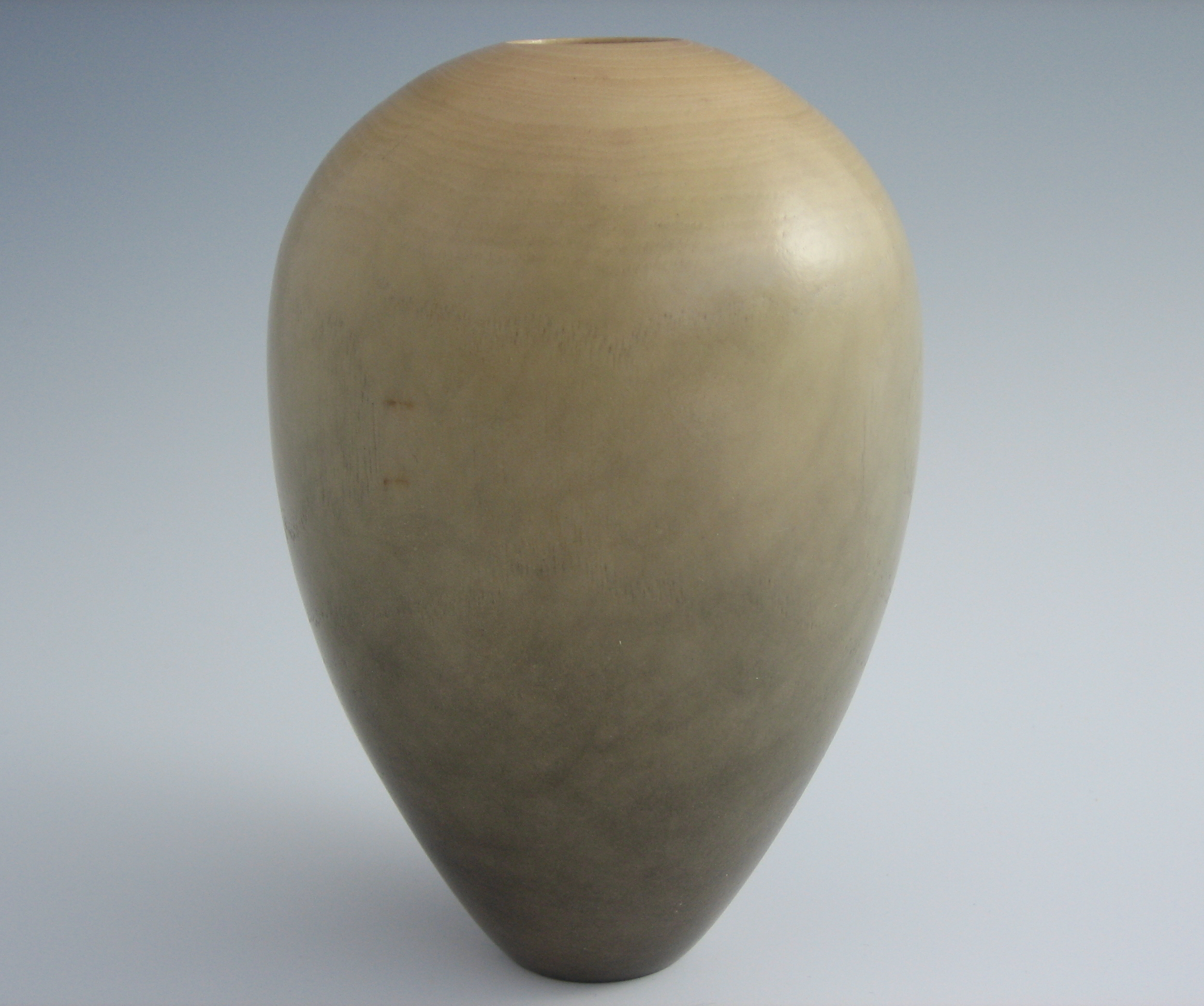 hollow form vase from hackberry