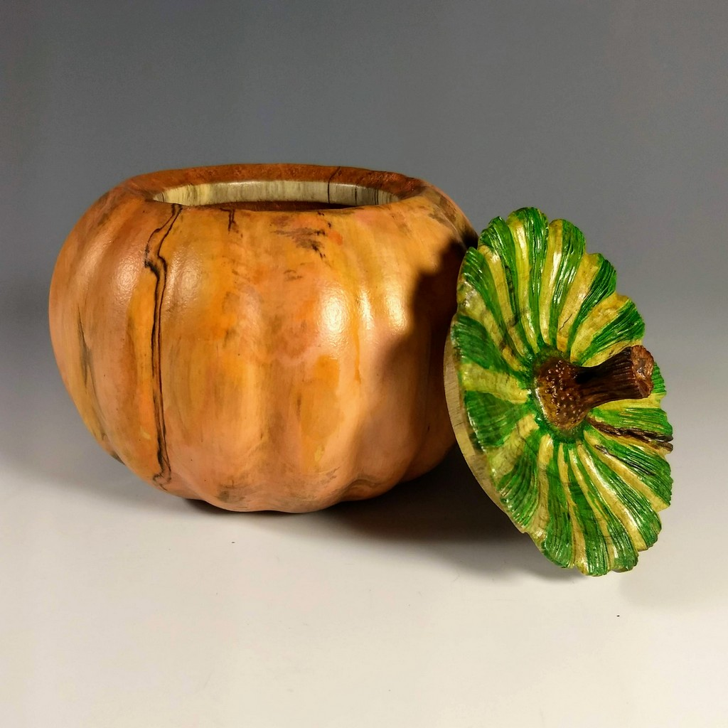 """Pumpkin Box"", silver maple, 5"" D x 5"" H"