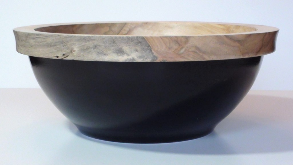 "Black Bottom Bowl, silver maple, 13"" D x 5.5"" H"